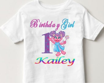 Abby Cadabby Birthday Shirt, Sesame Street Birthday Shirt, Abby Birthday Shirt, Girl's Birthday Shirt, Custom Birthday Shirt, Personalized