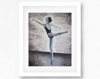 Ballerina Print, Ballerina Painting, Ballerina Wall Art, Ballet Art, Dancer Painting, Dancer Print, Ballerina Decor, Ballet Painting Print