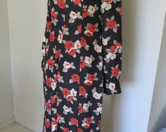Black and red vintage maxi dress