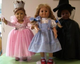 Dorothy. Glinda.and Elphaba   Doll Dresses