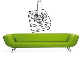 Atari Retro Joystick - Wall Decal - Wall art Sticker - ( black outline shown )