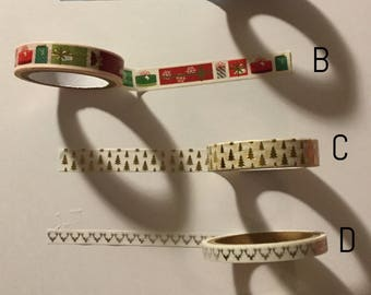Washi tape sample: skinny Christmas #5
