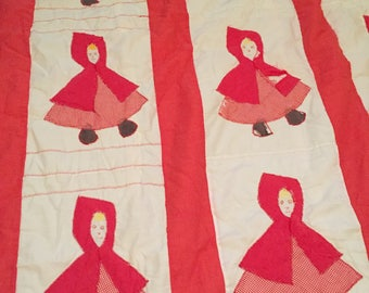 Vintage Red Riding Hood Quilt, Anthony Dulce Boutique