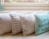 fabric cushion with feather down pad