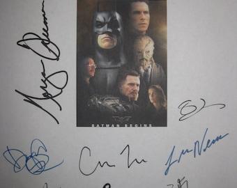 Batman Begins Signed Film Movie Screenplay Script X12 Autograph Christian Bale Michael Caine Liam Neeson Katie Holmes Cillian Murphy Oldman