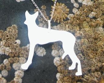 Silver necklace, Silver dog necklace, Dog necklace, Silver pendant, Silver Dog pendant, Dog lover gift, Bridesmaid gift, Birthday gift.
