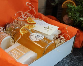 Sweetest Orange Bath and Beauty Gift Box - a 100% palm oil free, luxury gift