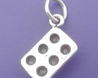 MUFFIN Cupcake Pan Charm .925 Sterling Silver Baking Tin Pendant - f5056