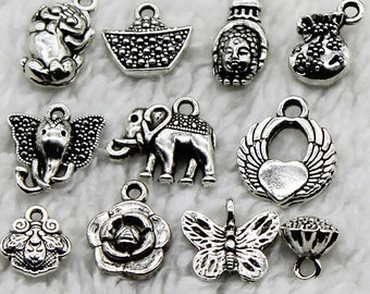 A series of handmade ornaments for the small pendant series of the Tibetan Silver