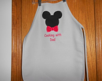 Childs Mickey with Bow tie Apron