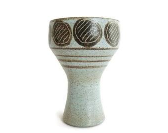 Mid Century Modern ceramic vase Bronkhorst, Dutch Pottery