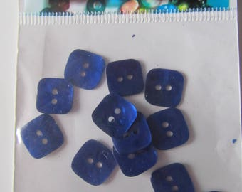 Set of 14 buttons - Navy Blue Pearl beads - 1.3 cm