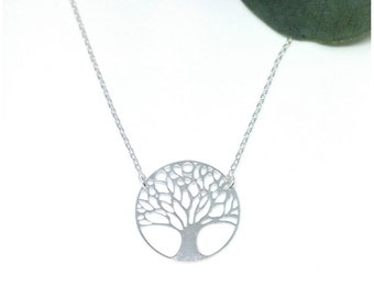 Tree of life necklace Silver 925/000 - 925 - Tree of life 925 silver sterling silver engraved tree pendant necklace sterling necklace