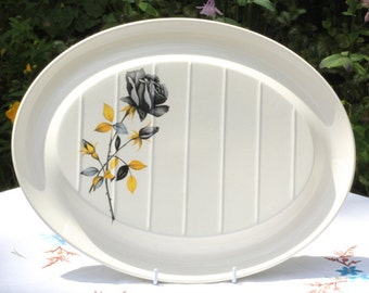 1950s Palissy carving plate or platter
