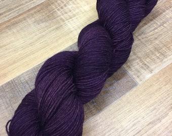 Hand Dyed Superwash Merino Nylon Sock Yarn, 100g/3.5oz, 'Professor'