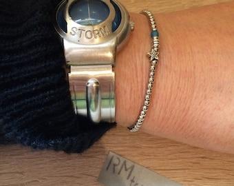 Bracelet beads silver metal star charm minimalist bracelet beads silver metal star charm minimalistic