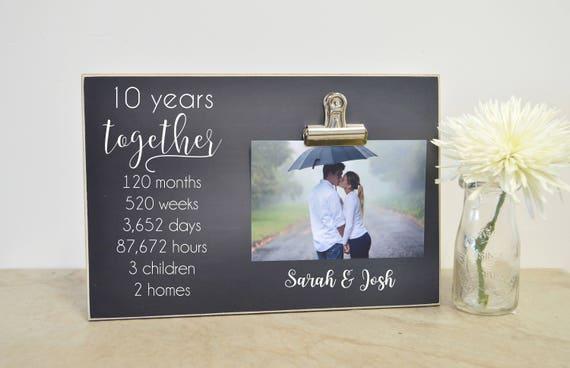 10 Year Wedding Gifts: 10 Year Wedding Anniversary Gift Anniversary Photo Frame 5