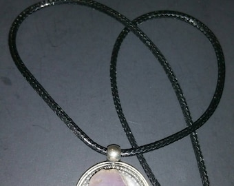 Amethyst Pendant Necklace, Natural Crystal Necklace, Natural Stone Necklace, Healing Crystal