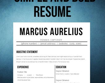 Simple and Bold Resume Templated