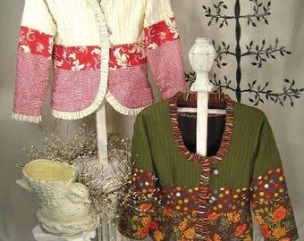 The Serafina Jacket by Kay Whitt for Serendipity Gifts - Sweatshirt Conversion Pattern