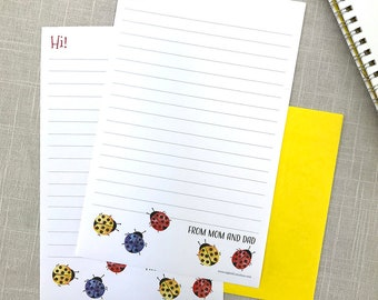 Mom Camp Stationery from Home, Stationery from Mom, Personalized Stationery Set, Custom Stationary Set