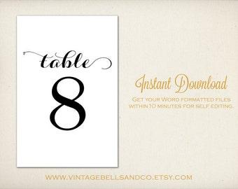 table number template word haci saecsa co