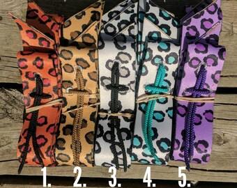 Krazy Kolorz Leopard Cinch Strap Sets, includes latigo and off billet