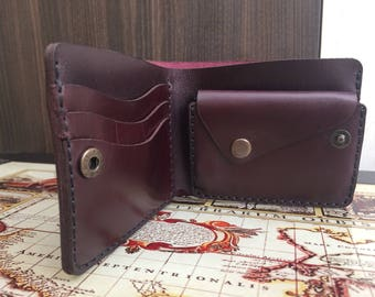Wallet leather men small, purple wallet leather, Personalized Leather Wallet, leather wallet woman, mens wallet, womens gift, purple
