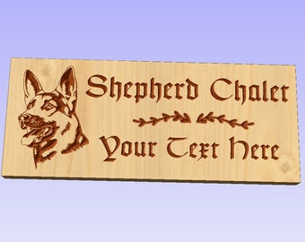 "Pooch Plaques ""Shepherd Chalet"" Decorative Plaque"