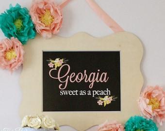 Georgia {Sweet as a Peach} Print -  11x14 Digital file