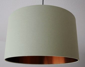 """Lampshade """"Lime-copper"""" (lime copper)"""