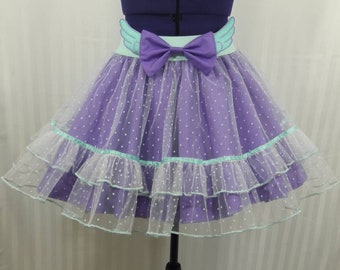 Pastel purple mint angel wings tutu skirt fairy kei pastel goth fashion lolita small-plus size