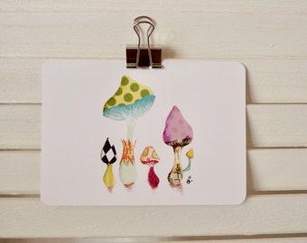 map postcard fungus / mushroom