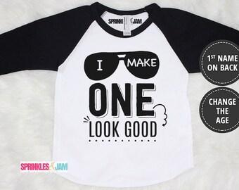 1st Birthday Boy Shirt, 1st Birthday Shirt, First Birthday Outfit, First Birthday Shirt, I Make ONE Look Good
