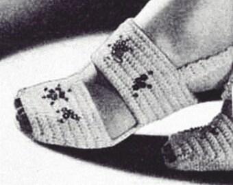 Double Strap Sandals Pdf Pattern- crochet pdf pattern