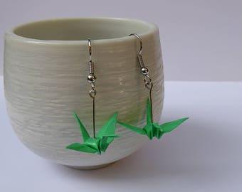 Miniature Origami Crane Earrings