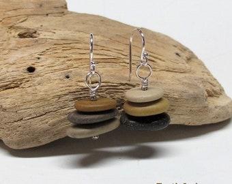 Israeli Pebble Cairn Earrings