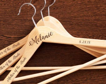 2 pcs Mother of the Bride Personalized Engraved Hanger - JM9971737