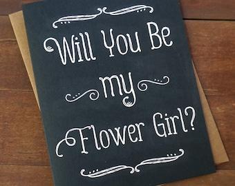 Will You Be My Flower Girl Card Flower Girl Invite Asking Flower Girl Proposal Will you be my Flowergirl Card Flower Girl Ringbearer