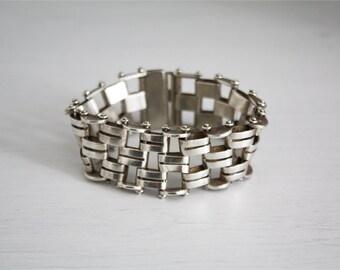 Vintage rectangular link bracelet band