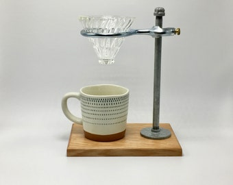 Adjustable Single Pour-Over Coffee Station - White Oak / Hario v60 Edition: coffee stand, coffee dripper, coffee maker, hario, v60