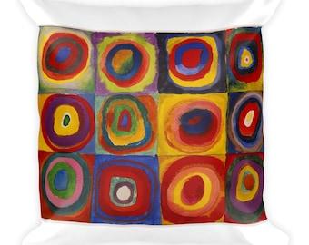 Kandinsky - Concentric Circles - Square Pillow
