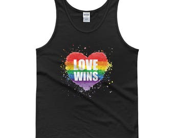 Gay Pride Tank Top - Love Wins - Pride Shirt, LGBT Shirt, Gay Pride Shirt, LGBT Pride Shirt, LGBT Pride Tank, Gay Pride