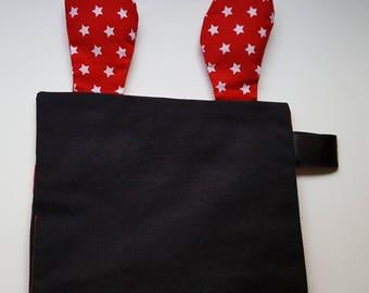 "Label ""red"" ears baby blanket"