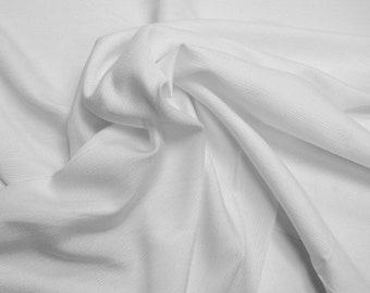 White Curtain Fabric Textured Sheen
