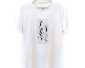 "Hand-printed ""Entanglement"" T-shirt"
