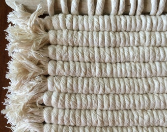 Macrame Wall Hanging | White Woven Wall Hanging | White Wall Weaving | Bohemian Modern Decor | Macrame | Driftwood Art | Jungalow Style