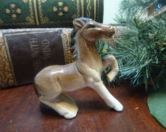 Minature Porcelain Horse Figurine