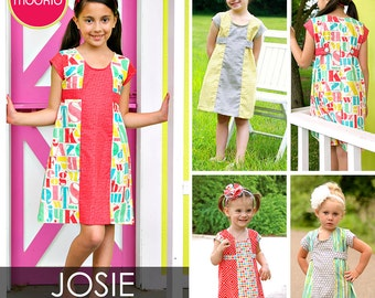 Josie Retro A-line Dress PDF Downloadable Pattern by MODKID... sizes 2T to 10 Girls included - Instant Download