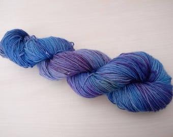 Hand-dyed sock yarn the mermaid
